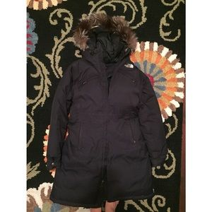 The North Face   Down Puffer Long Coat + Real Fur
